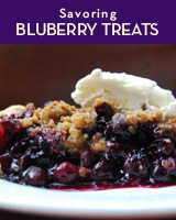Blueberry crumble pie at Pearl Oyster Bar