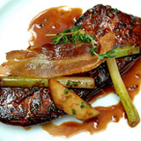 Glazed calves liver from Thor