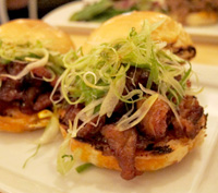 Danji's Spicy Pork Belly Sliders