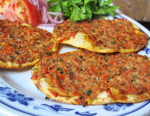 Lahmacun  Turkish-style pizza    Ali Baba Turkish Cuisine